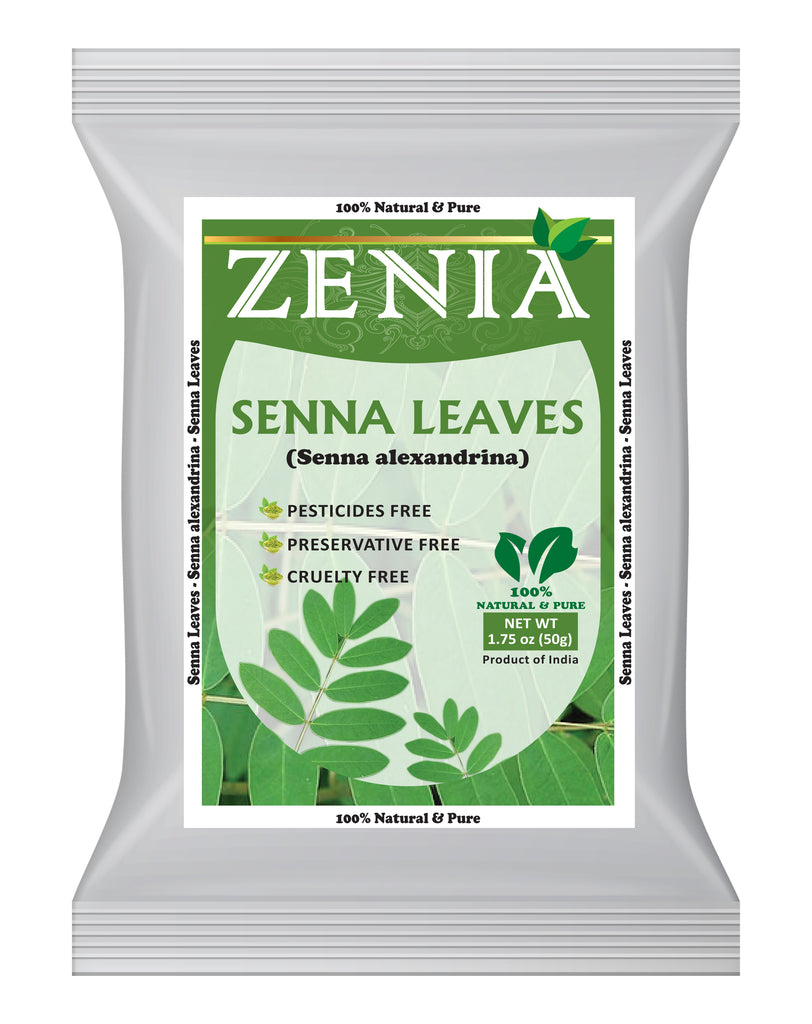 50 grams (1.75oz) Zenia Senna Leaves Cut & Sifted 100% Pure