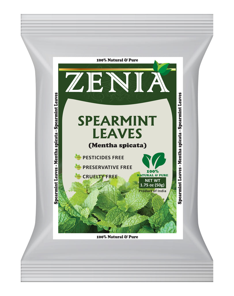 50 grams (1.75oz) Zenia Spearmint Dried Leaves 100% Pure