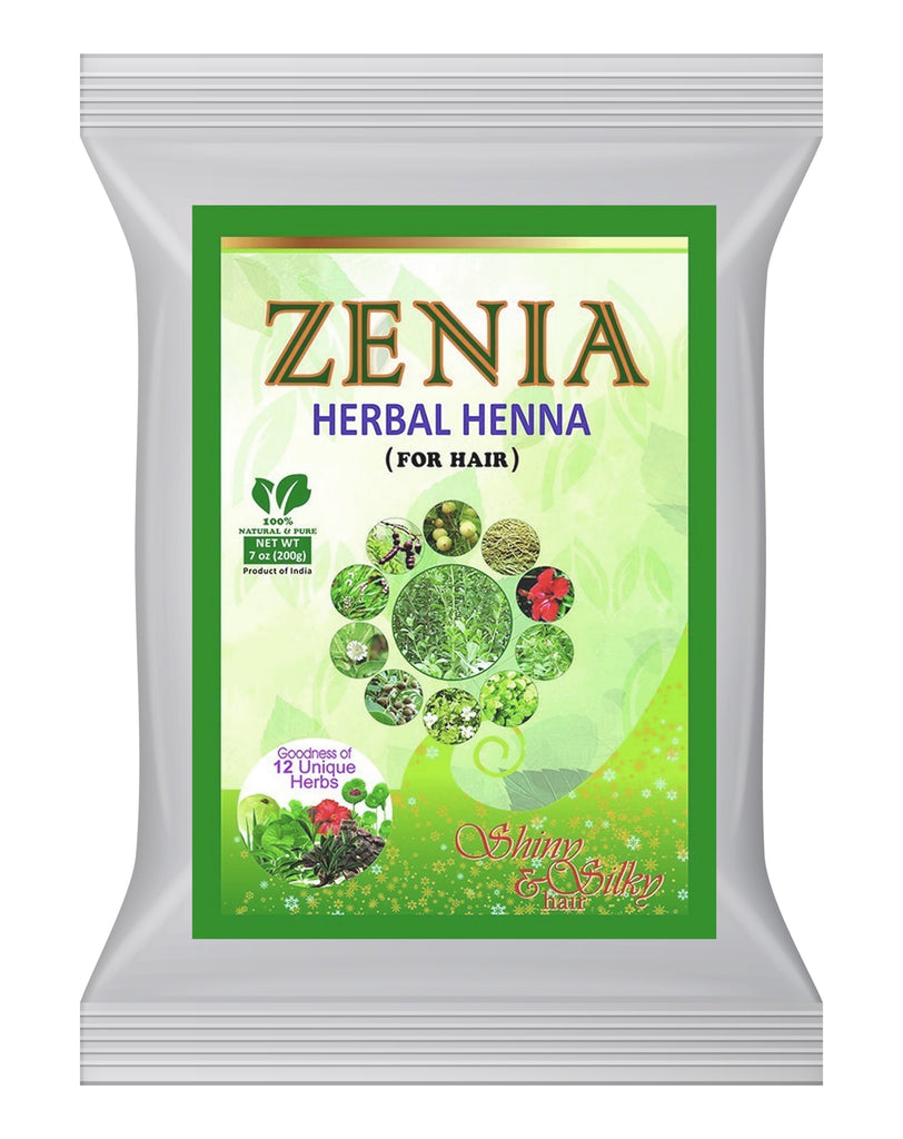 500g Zenia Herbal Henna 12 Unique Herbs