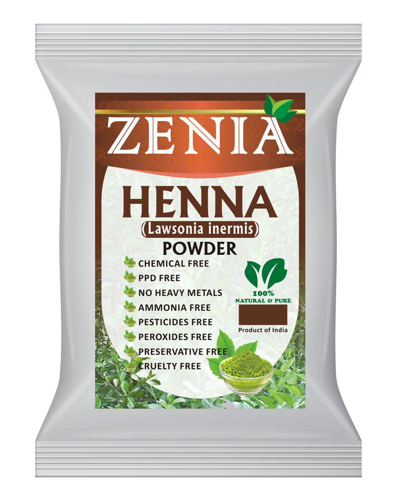 50g (1.75oz) Zenia Pure Henna Powder For Body & Hair Color/Dye
