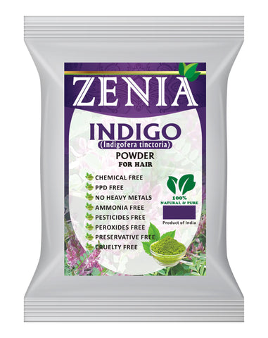 1000g (1kg) Zenia Indigo Powder Hair / Beard Dye Color 2020 Crop