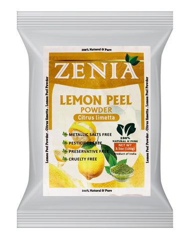 100g Zenia Citrus Lemon Peel Powder