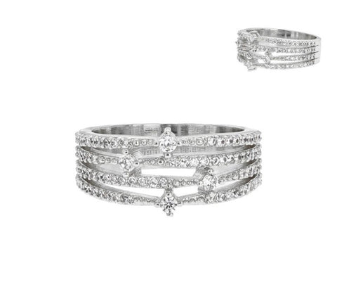 Multi-Row CZ Ring