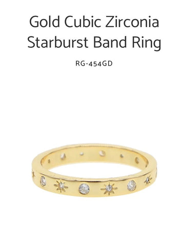 Gold Filled Starburst Band