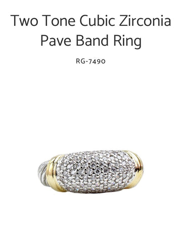 Two Tone Designer Style Ring