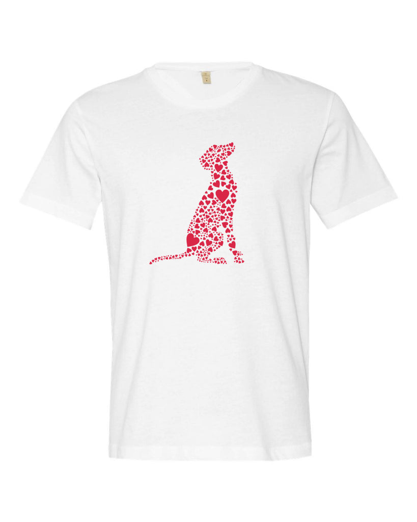 """Heart Dog"" Men's Cut T-shirt"