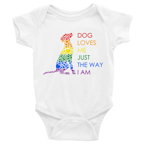 """Dog Loves Me"" Onesie"