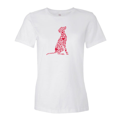 """Heart Dog"" Women's Fitted T-Shirt"