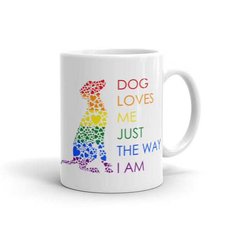 """Dog Loves Me"" Coffee Cup"