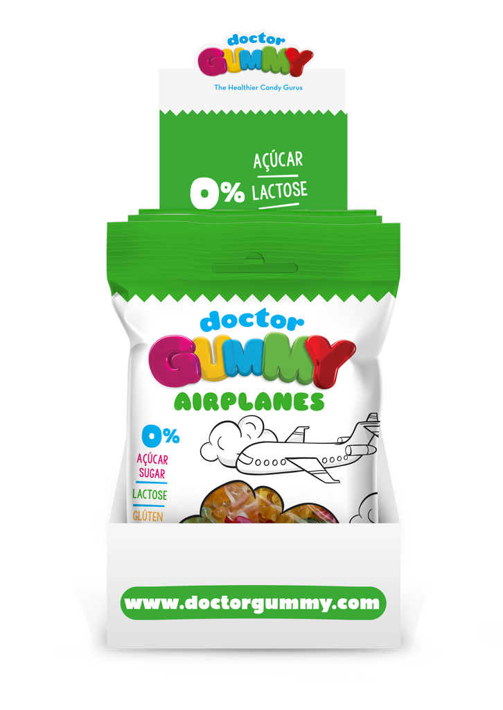 Box of 12 DoctorGummy Airplanes Gummies 70g