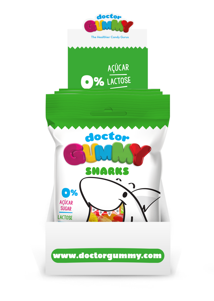 Box of 12 DoctorGummy Shark Gummies 60g