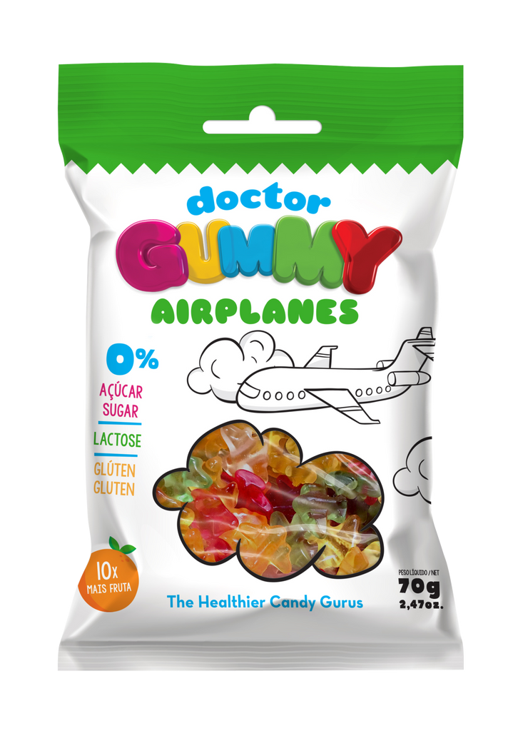 Box of 12 DoctorGummy Airplanes Gummies 60g