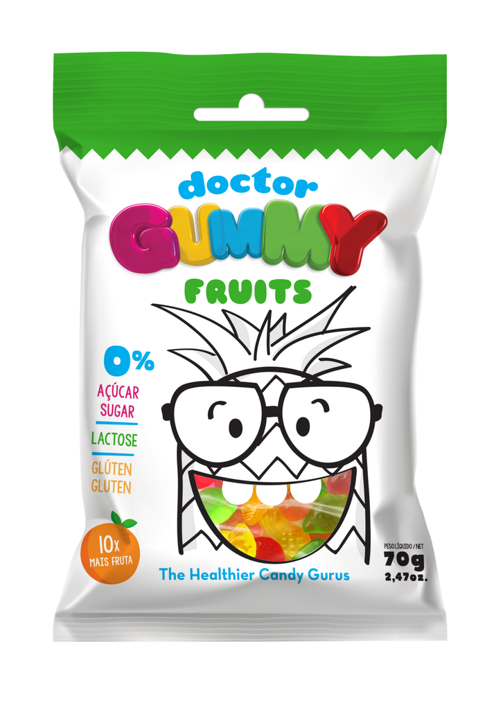 Box of 12 DoctorGummy Fruits Gummies 70g
