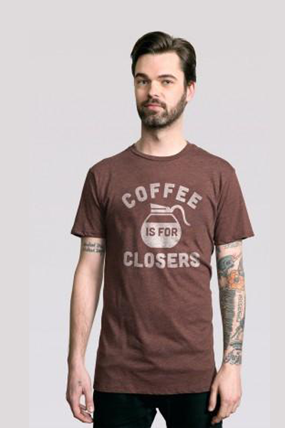 Coffee is for Closers T-Shirt - Tractor Beam Apparel
