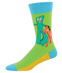 Gumby & Pokey socks - Tractor Beam Apparel