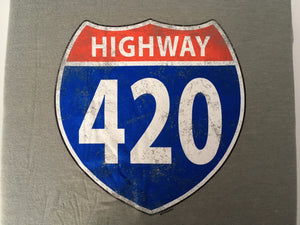 Highway 420 T-Shirt - Tractor Beam Apparel