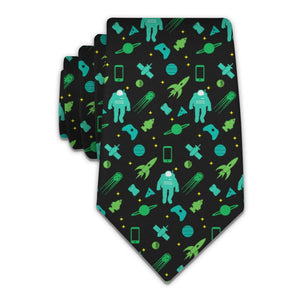 Space Junk Necktie - Tractor Beam Apparel