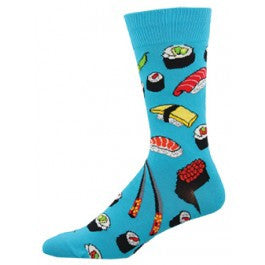 Sushi Socks - Bright Blue - Tractor Beam Apparel