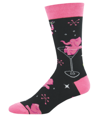 Pink Elephants socks - Tractor Beam Apparel