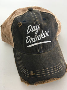 Day Drinkin' Snap Back Trucker Cap - Tractor Beam Apparel