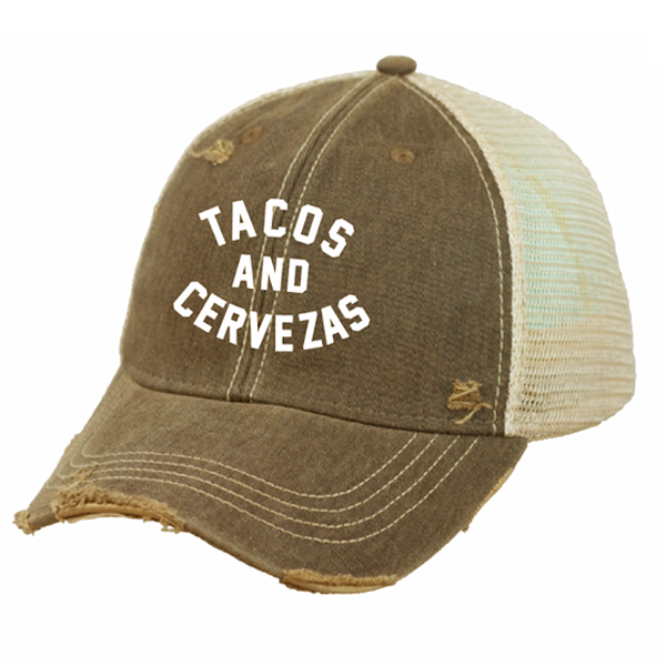 Tacos and Cervezas Snap Back Trucker Cap - Tractor Beam Apparel