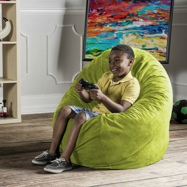 Lime Microsuede 4 Foot Jaxx Cocoon Bean Bag Chair