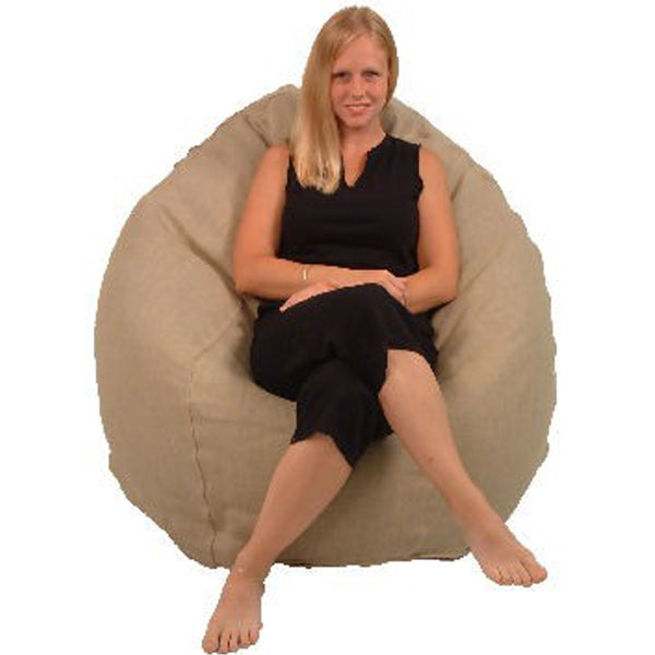 Natural Hemp Organic Cotton Comfy Bean Bag Lounger