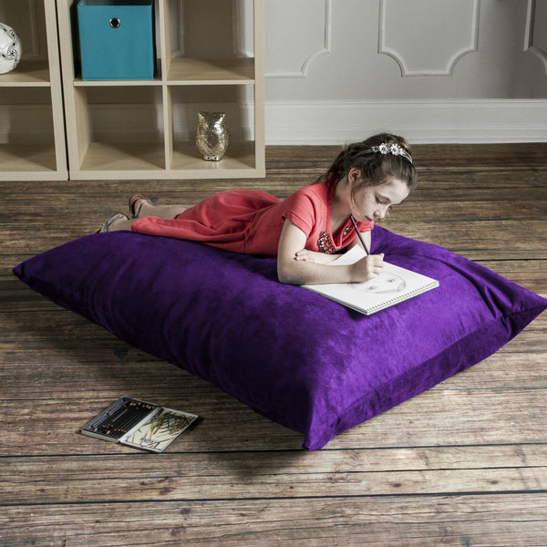 Grape Microsuede Jaxx Pillow Sak 3.5 Foot Bean Bag Chair