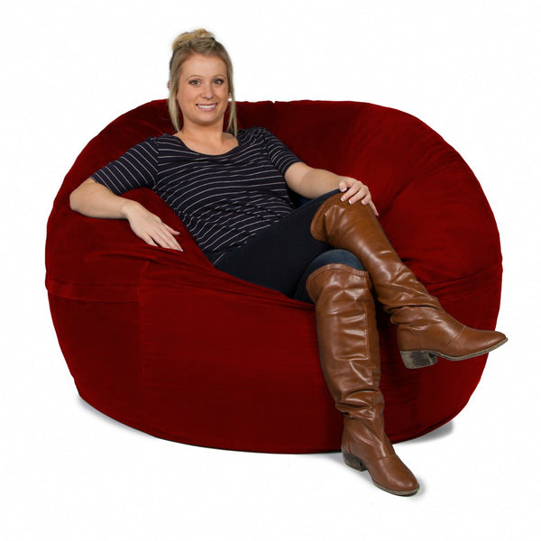 Cinnabar Microsuede 5 Foot Classic Jaxx Saxx Bean Bag Chair