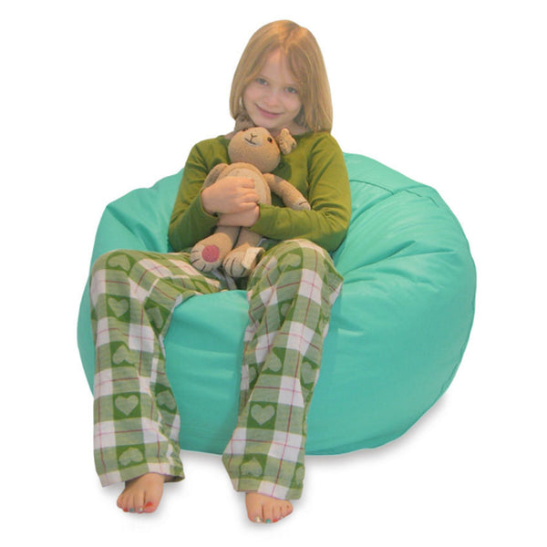 Aqua Vinyl Comfy Bean Bag Chair
