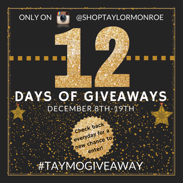 12 Days of Giveaways Taylor Monroe