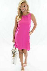 Pink shift dress. To order email us at: ShopTaylorMonroe@yahoo.com