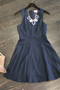 Business casual blue dress. Dress it up or down! To order email us at: ShopTaylorMonroe@yahoo.com