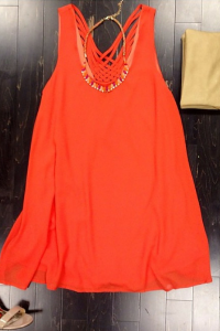 Orange shift dress. To order email us at: ShopTaylorMonroe@yahoo.com