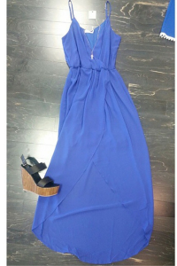 Blue high low summer maxi dress. To order email us at: ShopTaylorMonroe@yahoo.com