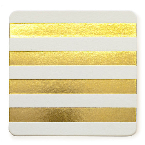Gold-Cabana-stripe-coaster
