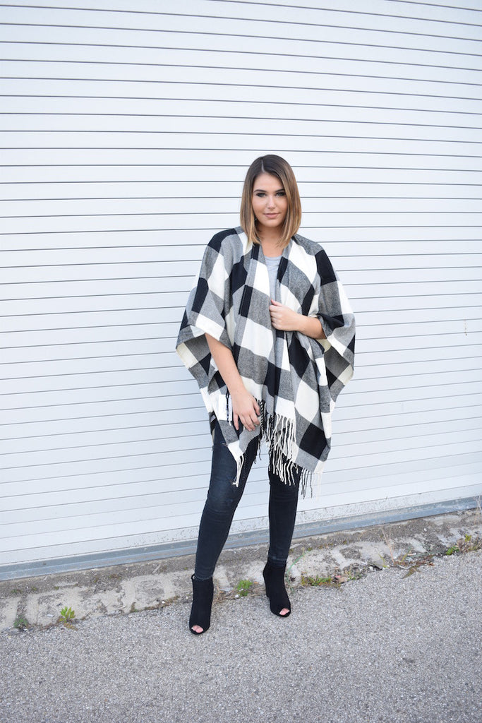 Black Buffalo Poncho