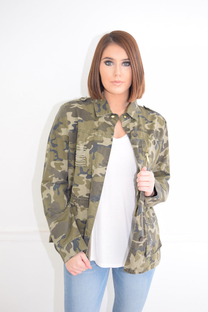Ginger camo jacket