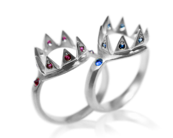 Colored Gemstone Crown Ring - b.Tsaritsa
