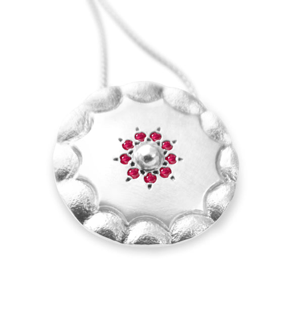 Ruby Shield Necklace - b.Tsaritsa