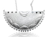 Black Diamond Shield Necklace - b.Tsaritsa