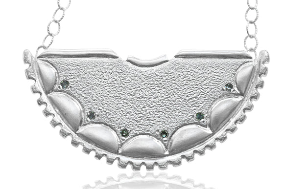 Green Diamond Shield Necklace - b.Tsaritsa