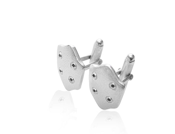 Black Diamond Shield Cufflinks - b.Tsaritsa