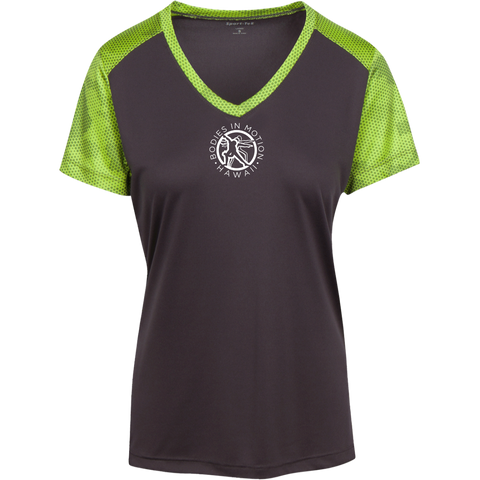 Image of Bodies in Motion Ladies' CamoHex Colorblock T-Shirt