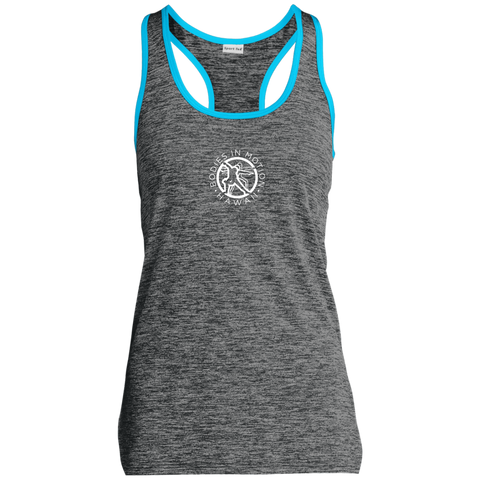 Bodies in Motion Sport-Tek Ladies' Moisture Wicking Electric Heather Racerback Tank