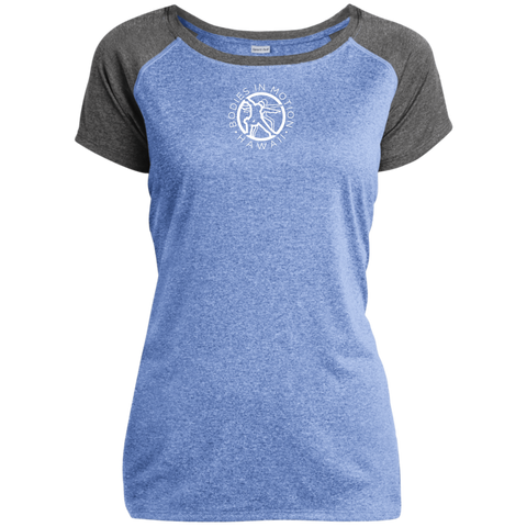 Image of Bodies in Motion Sport-Tek Ladies Heather on Heather Performance T-Shirt