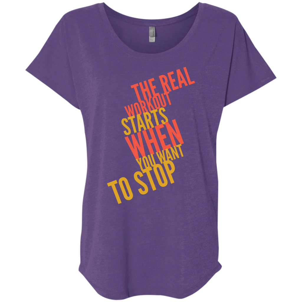 The Real Workout - Ladies' Triblend Dolman Sleeve