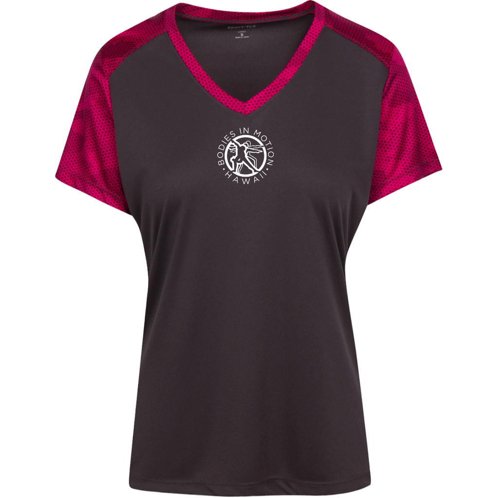 Bodies in Motion Ladies' CamoHex Colorblock T-Shirt