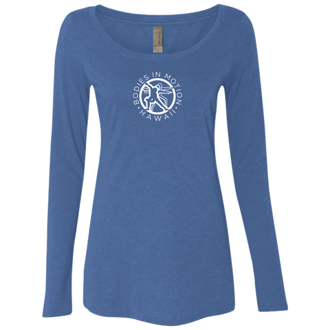 Bodies in Motion Ladies' Triblend LS Scoop