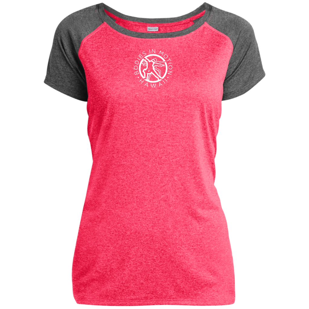 Bodies in Motion Sport-Tek Ladies Heather on Heather Performance T-Shirt